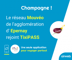 annonce de l'arrivée du réseau d'Epernay dans l'application tixiPASS